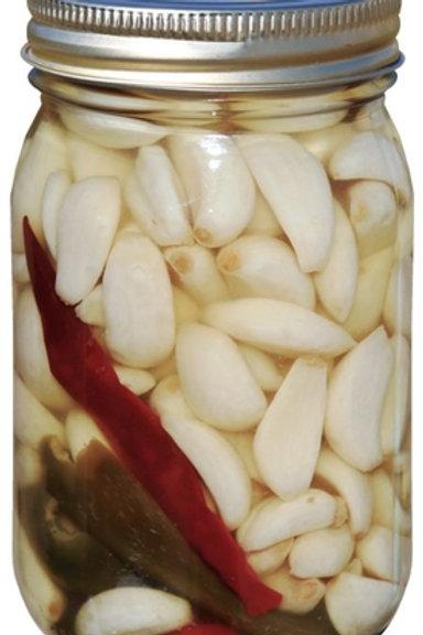Spicy Pickled Garlic