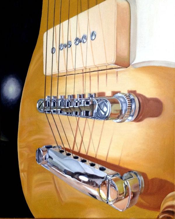 Oil Painting Realism Guitar