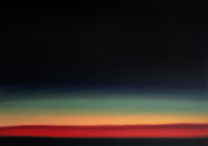 Sunset Oil Painting Gradient