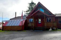 Lodge, Driveway view