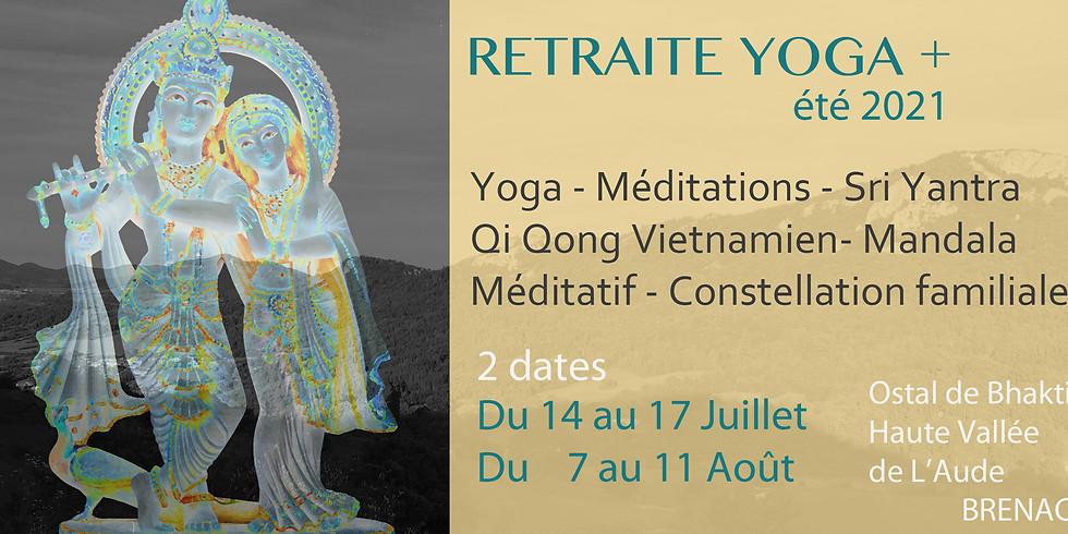 RETRAITE YOGA +, été 2021- Ostal de Bhakti- Haute Vallée de l'Aude