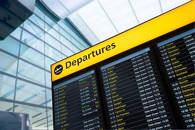 Flight information, arrival, departure a