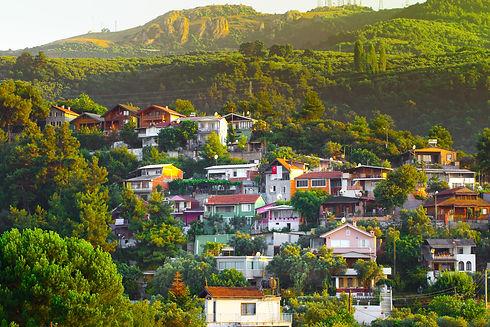 Village on the mountain slopes. Uludag National Park, Bursa, Turkey..jpg