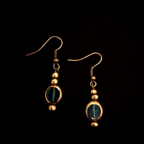 Aqua Glass & Brass