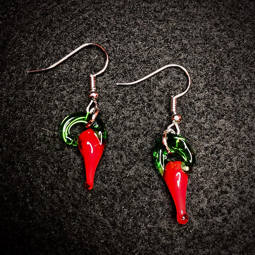 Glass Pepper Earrings