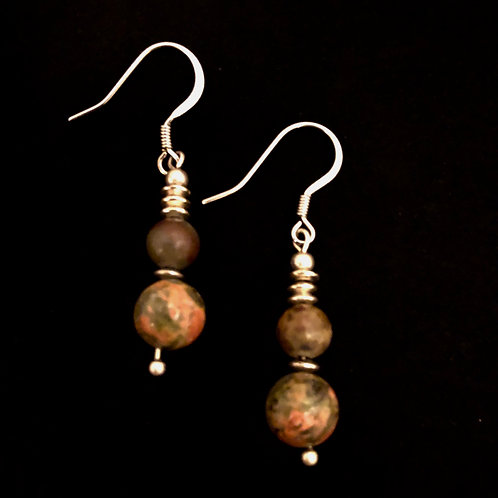Natural Stone & Silver Plate