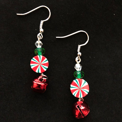 Candy & Red Bell Earrings