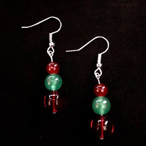 Glass & Aventurine Earrings