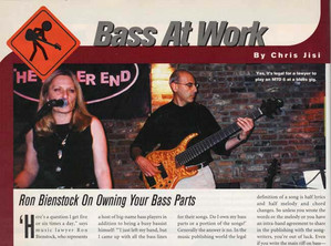 Bass Player Magazine with Ron Bienstock