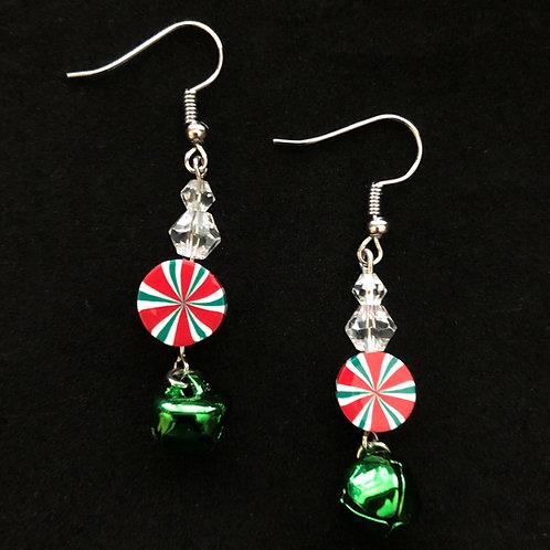 Candy & Green Bell Earrings