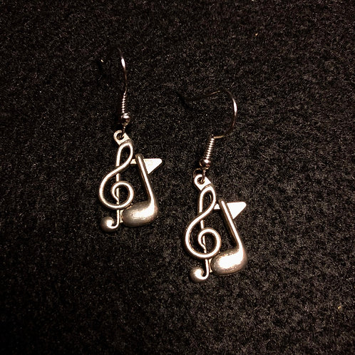 Silver G Clef & Note