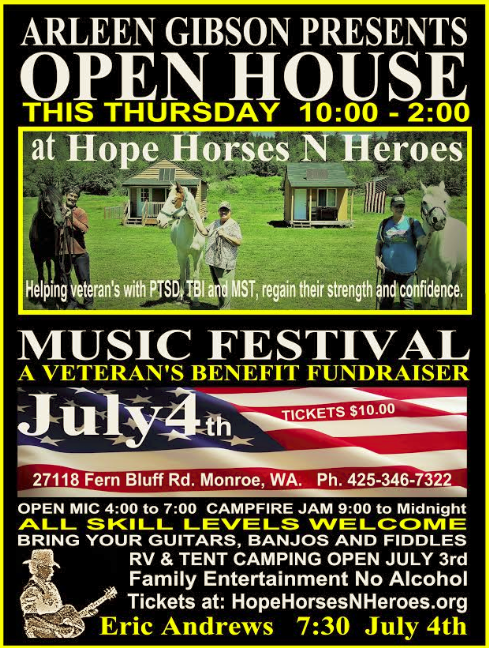 Hope Horses 'N Heroes in Monroe has open house plus musical festival fundraiser