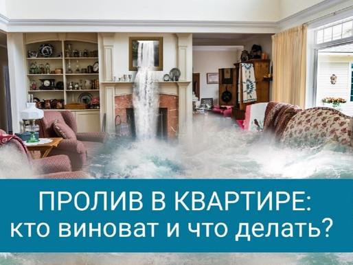 Пролив в квартире: кто виноват и что делать?