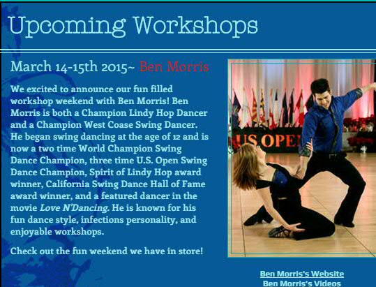 Ben Morris Workshop Weekend March 14-15