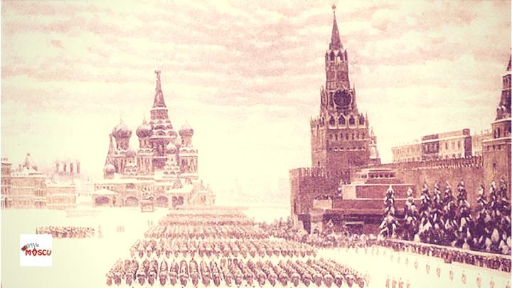 Parada Militar 1941, Plaza Roja Moscú