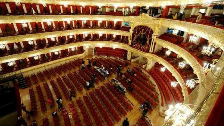 Escenario principal del Teatro Bolshoi