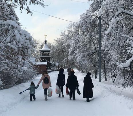 Así se vivió la nevada del siglo en Moscú