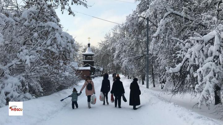 Nieve en Moscú