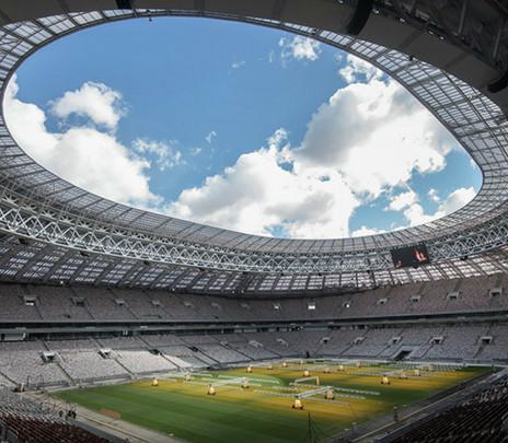 Estadio Luzhniki: Inauguración y final del Mundial