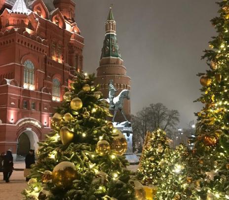 ¿Un árbol de Navidad? Un bosque llena de magia Moscú