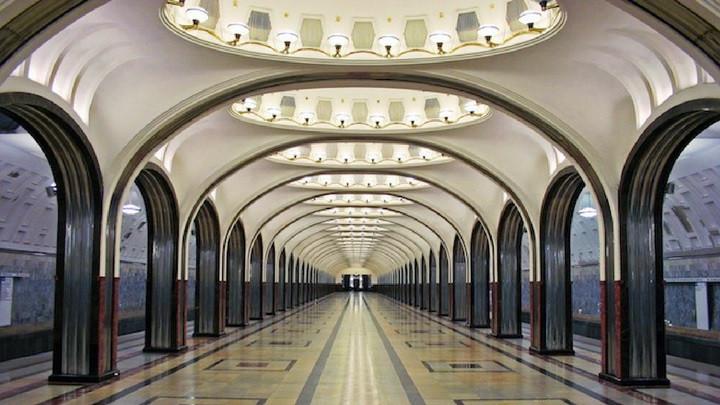 Estación Mayakovskaya del Metro de Moscú