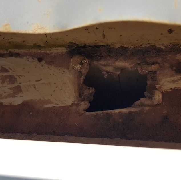 Gutter outlet after cleaning