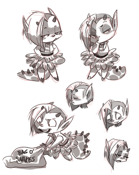 Lucy - character sketches