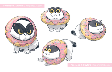 Donut Cat character concept
