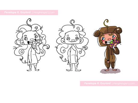Goldi character concept
