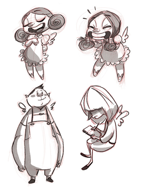 """Little Devil"" concept designs - angel kids"