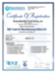 SQF FS Certificate Rocky Mountain Food F