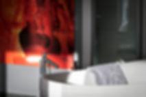 Hansgrohe Axor Citterio luxury bathroom fixtures, Villeroy & Boch bathtub, towels by Pfister, Lake Geneva, Christi Rolland Home Interiors