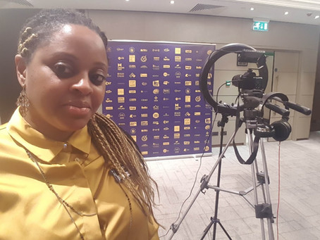 Interviewing the Windrush Journalist.