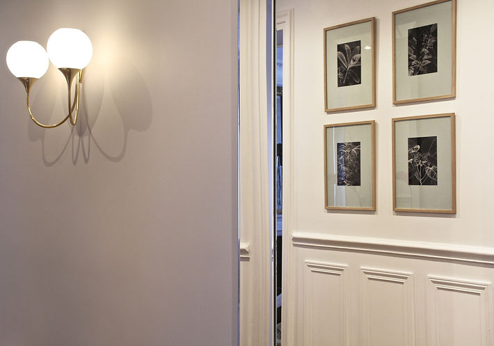 Monceau Paris Project Portfolio Christi Rolland Home Interiors Apartment Renovation Gallery Hallway Art