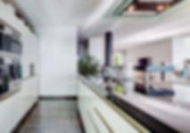 The Black and White Open Kitchen, Lake Geneva, Christi Rolland Home Interiors