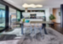 The Neutral Dining Room, wool carpet by Casa Jardinia, Lake Geneva, Christ Rolland Home Interiors