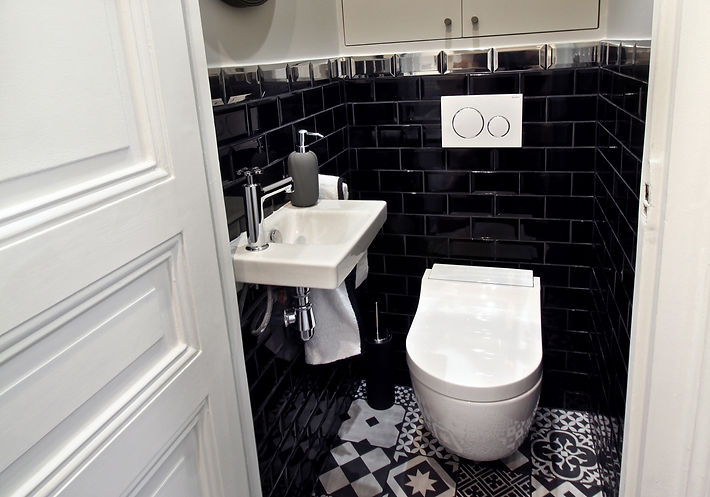 Monceau Paris Project Portfolio Christi Rolland Home Interiors Apartment Renovation Bathroom WC Guest Bathroom