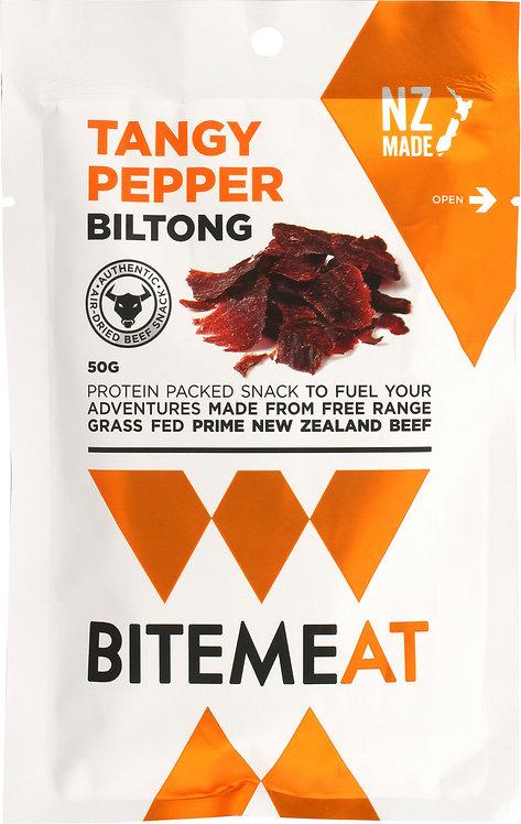 Canterbury Biltong BiteMeat Tangy Pepper Biltong 50g