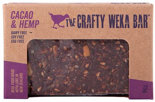 The Crafty Weka Bar Cacao & Hemp Bar