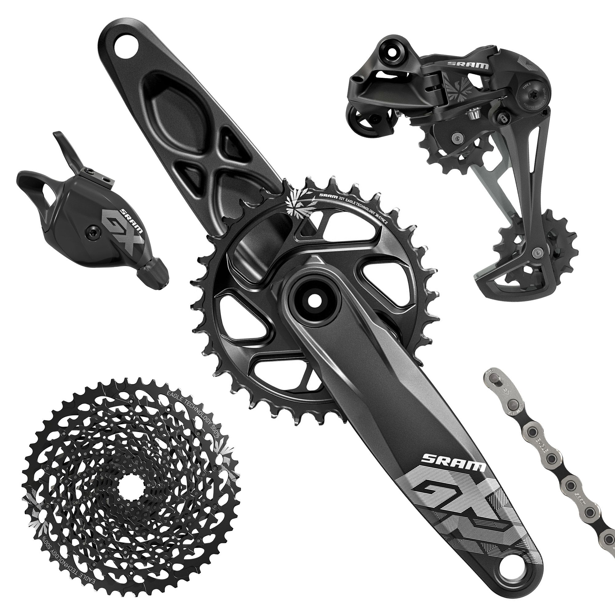 Sram GX Eagle Groupset 12 Speed Inc. Crankset (175mm 32t) 5baca7316
