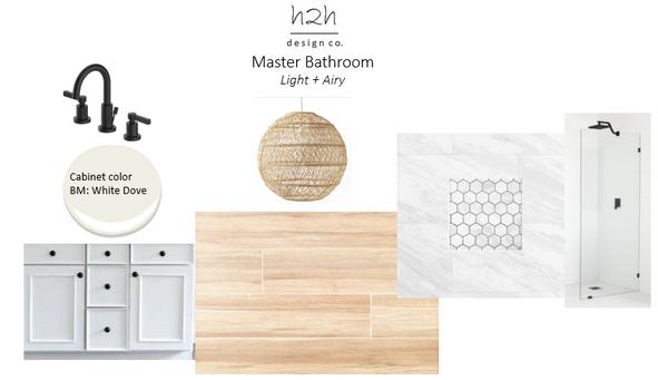 Master Bathroom Renovation: Light + Airy