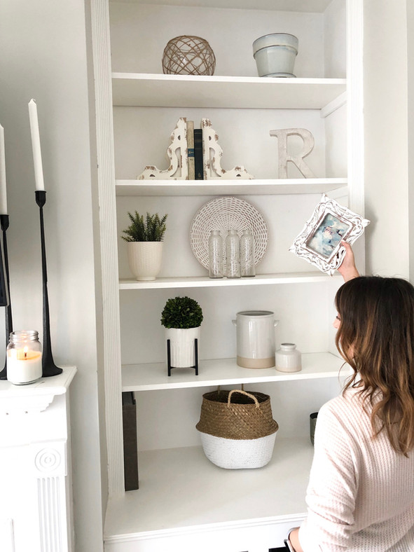 3 simple tips for styling your shelves