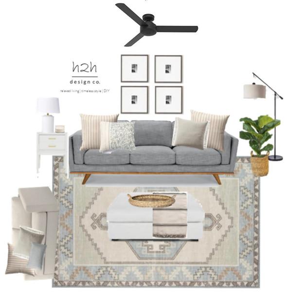Light + Bright Coastal Inspired Living Room Design Board