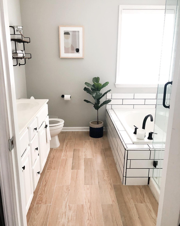 Master bathroom renovation (before + after)