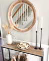Create a neutral fall entryway