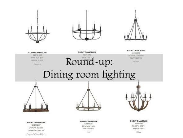 Choosing the right dining room light fixture