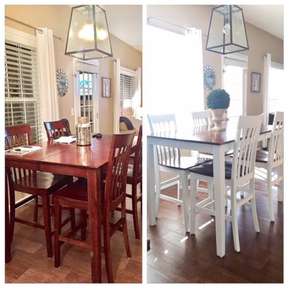 Kitchen table + chairs update
