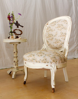 Linen Paisley Queen Chair