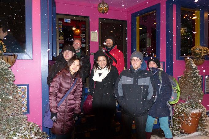 Holiday party/snowstorm, Cambridge, 2013.