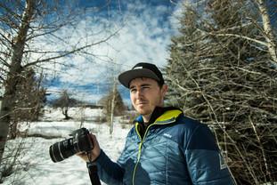 Shooting snow Truckee Nevada